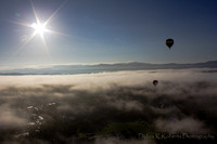 Sunburst Balloon Above the Clouds