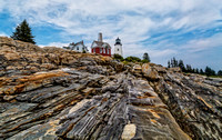 -The Rocks- at Pemaquid Point Light, Maine